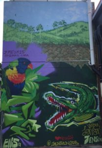 gimpie wallart crocodile
